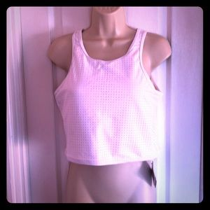 NWT White Fabletics Valentini Midi Bikini Top